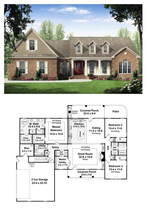house plans with kitchen in front 59 best images about country house plans on