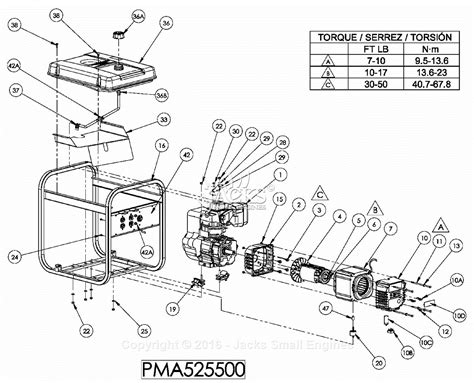 Powermate Formerly Coleman Pma Parts Diagram For
