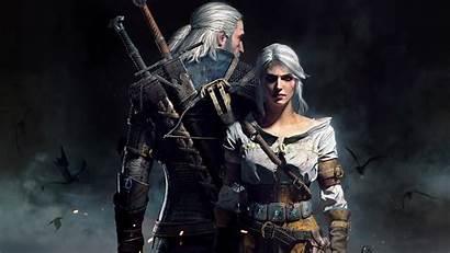 Witcher Ciri Geralt Poster Resolution Wallpapers 4k