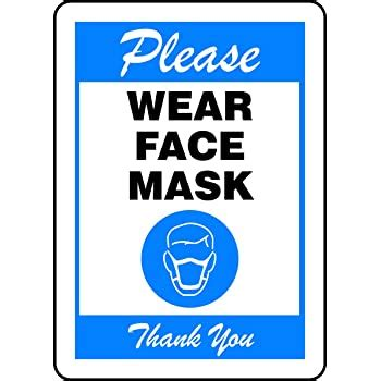 Amazon.com: Wear Face Mask | Aluminum Sign | Protect Your