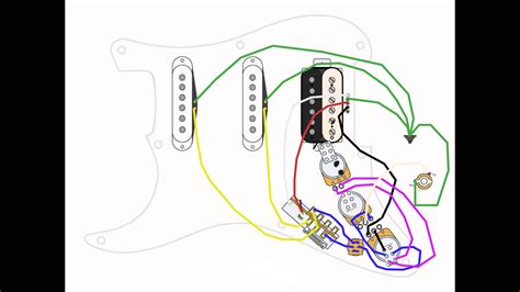 hss strat wiring diagram 1 volume 2 tone 6 best images of wiring diagram for humbucker stratocaster