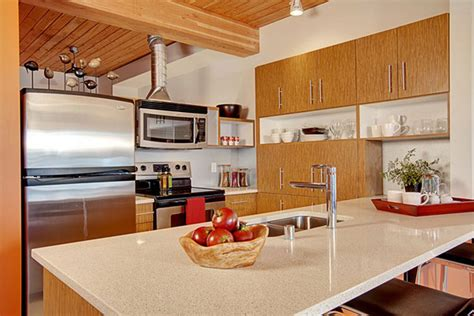 Kitchen Decor Ideas For Small Kitchens - twins apartment ideas in seattle red kitchen viahouse com