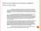 Movie Summary Examples in PDF   Examples