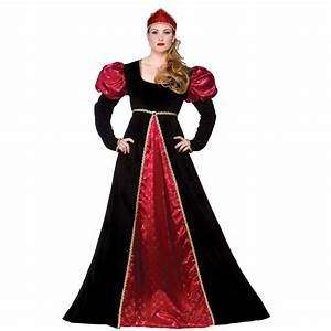 Medieval Queen Empress Historical Womens Halloween Fancy ...