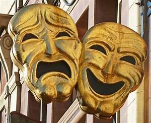 Comedy Tragedy masks - Bookworm Room