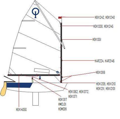 Optimist Boat Brands by Generic Opti Spar Parts