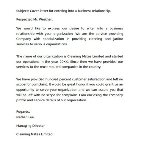 Standard Cover Letter Sle Standard Business Letter Format 8 Free Documents In Pdf Word