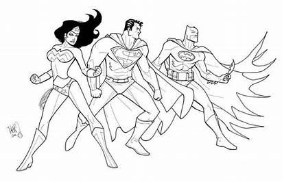 Justice League Coloring Pages Drawing Superman Batman