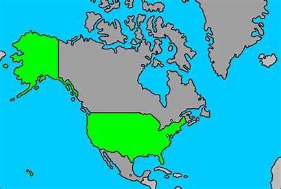 Alaska Coast West Considered Wereldkaart Staten Map