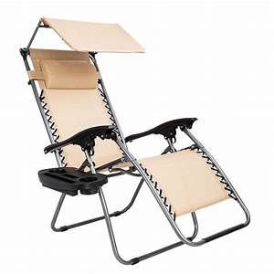 Zero, Gravity, Lounge, Chair, With, Canopy, Folding, Chair, Poolside, Backyard, Beach, Outdoor, Lounge