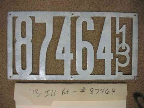 illinois front license plate tag  ill