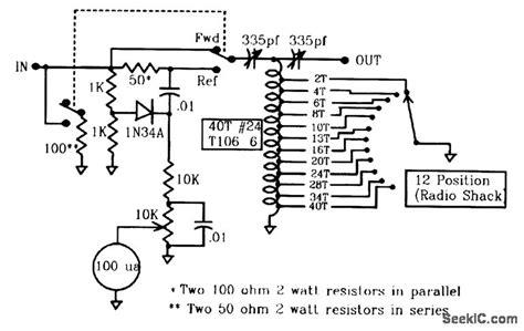 low power antenna tuner and swr meter power supply circuit circuit diagram seekic