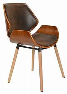 Chaise De Bureau Bois : ts ideen 1 x chaise de bureau bois de ch ne fonc faux cuir marron fauteuil ~ Preciouscoupons.com Idées de Décoration