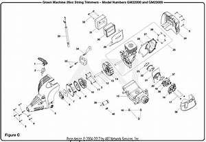 Homelite Gm23000 26cc String Trimmer Parts Diagram For