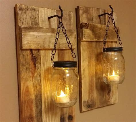outdoor wall lighting ideas with diy hanging jar