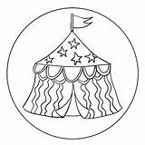 Circus Tent Coloring Printable Template Cookie Activity Round Getdrawings Getcolorings Kits Toppers Popular sketch template