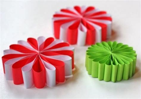 simple paper flower ornaments allfreechristmascraftscom
