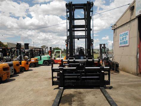 hangcha diesel tonne mast forklift bay forks