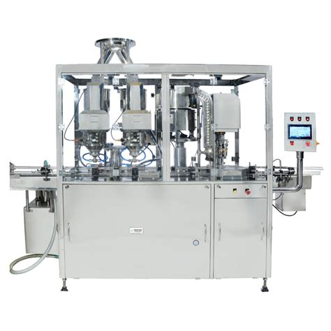 automatic dry powder filling machine  capping  sealing arrangement monoblock anchor