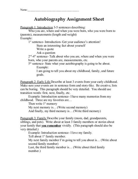 Autobiography Cover Page Template Autobiography Outline Autobiography Outline Exle Hola Klonec Co