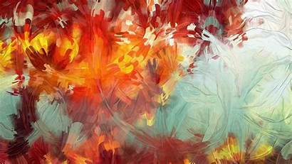 Abstract Painting Paintings Leaves Portrait Autumn Abstracts