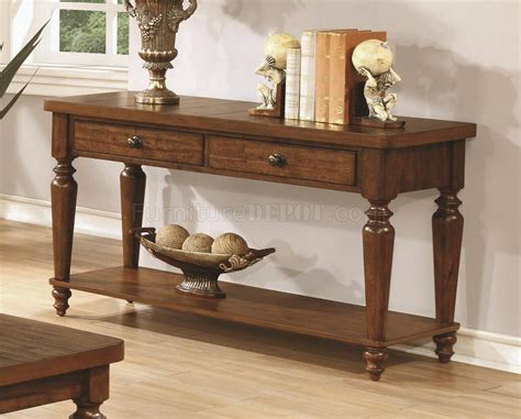 703578 Coffee Table By Coaster In Rustic Brown W/optional