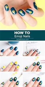 Emoji nail art tutorial : M u nail cute cho ng?y tu n xu h ng zone