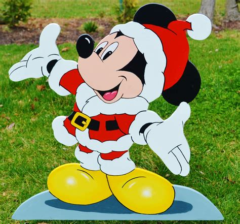 mickey mouse santa clause lawn stake yard decoration yard
