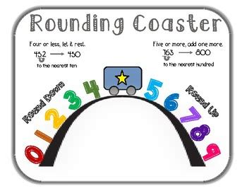 rounding coaster anchor chart   pencil place tpt