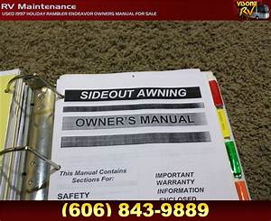 Rv Accessories Used 1997 Holiday Rambler Endeavor Owners Manual For Sale Rv Maintenance