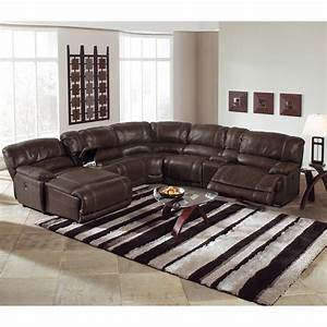 Leather sectional sofa with power recliner for Modern sectional sofa in los angeles
