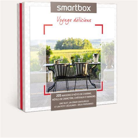 coffret smartbox table et chambre d hote coffret cadeau voyage délicieux smartbox