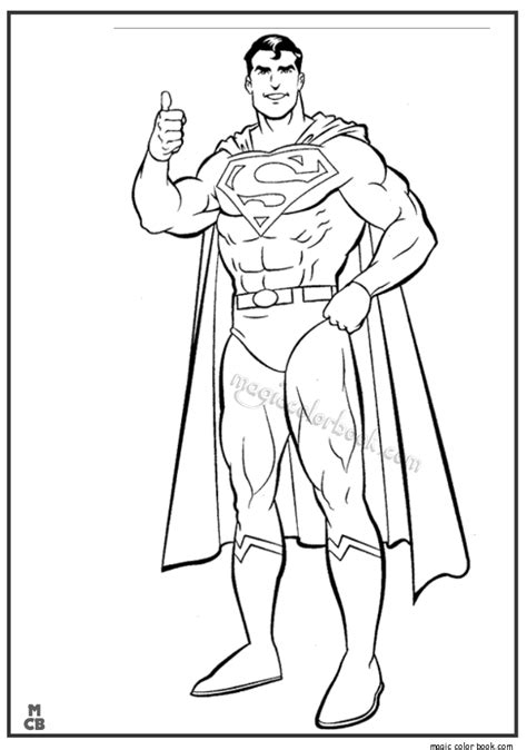Superman Coloring Pages Printable 04 (With images