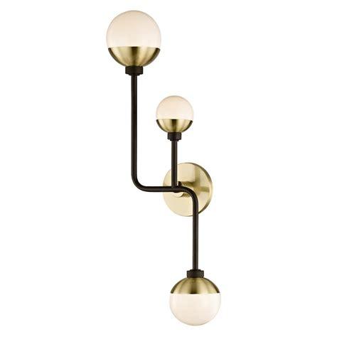 fifth and main lighting hipster 3 light bronze brass up