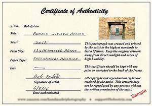 photography certificate of authenticity template 28 With certificate of authenticity photography template