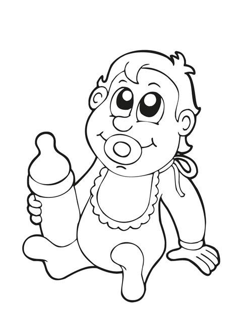 Kleurplaat Baby In Wieg by Pioneer Coloring Pages