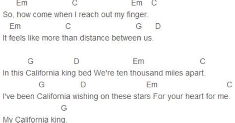 california king bed chords california king bed guitar chords tabs