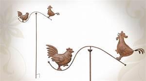 Decoration De Jardin En Fer Forgé Animaux : d coration de jardin poule et coq ~ Teatrodelosmanantiales.com Idées de Décoration