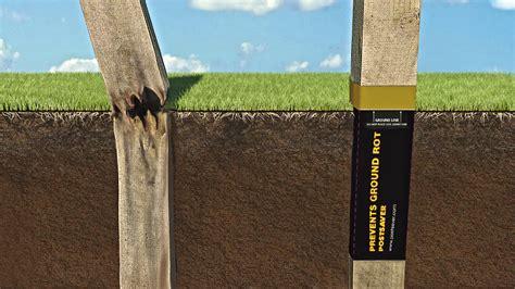 Extends wooden fence post lifespan - DIYinternational.com