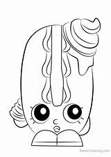 Bun Coloring Shopkins Pages Creamy Printable Adults sketch template