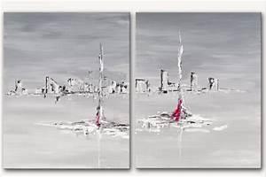 Tableau Contemporain Grand Format : tableau moderne grand format rectangle gris tableau contemporain xxl panoramique gris ~ Teatrodelosmanantiales.com Idées de Décoration