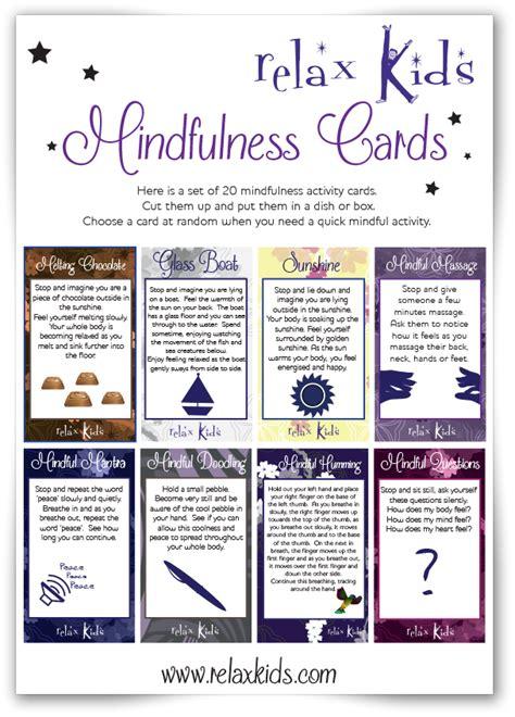 mindfulness cards mindful moments