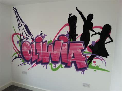 Bedroom Names by Children Bedroom Graffiti Mural