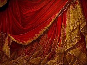 backdrop vintage theater stage curtain red by eveyd on With red curtain background vintage