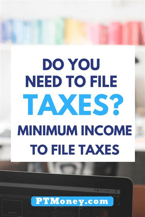 minimum income  file taxes   part