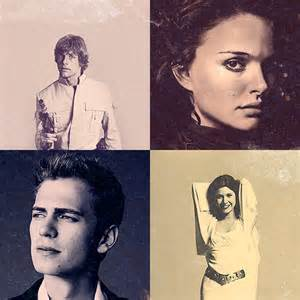 Princess Leia and Anakin Skywalker