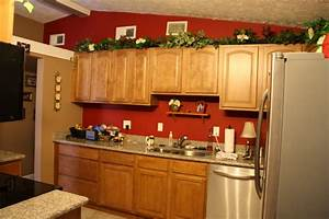 red wall kitchen With kitchen colors with white cabinets with sticker telegram kiss