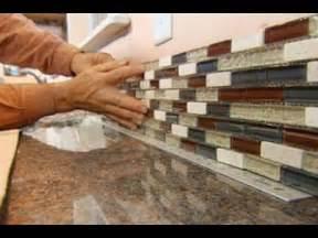 kitchen stick on backsplash how to install a glass tile backsplash this house