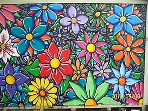 Grasp, Flower, Mural