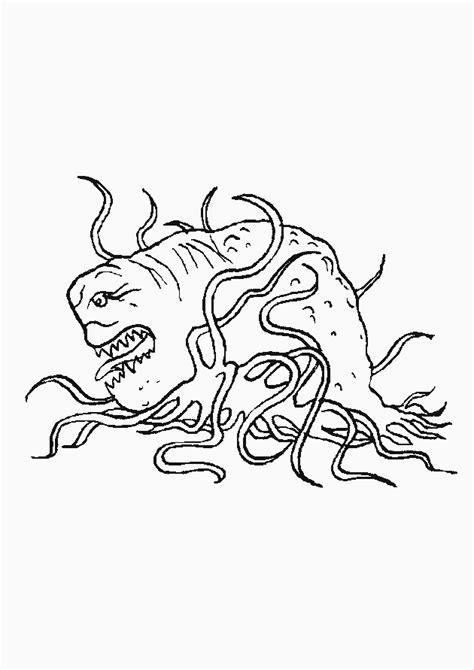 Kleurplaat Enge Monsters by N 25 Kleurplaten Monsters En Co
